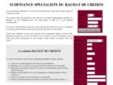 Crédits et rachat de credit, credit immobilier et consommation