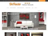Tableaux décoration - tableau déco en serie limitée - Defacto deco