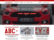 Votre plaque d'immatriculation belge