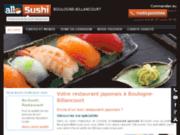 Livraison de sushis à Boulogne Billancourt