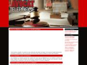 avocat au téléphone