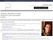 Cabinet BERTHELOT-EIFFEL, droit immobilier, Paris