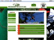 Béziers aventure, parc acrobatique en forêt, Hérault