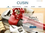Le spécialiste de la plomberie, l'entreprise CUSIN à Poliénas