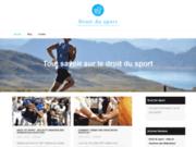 Blog d'informations sur le droit du sport