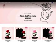 Boutique rose éternelle et fleur