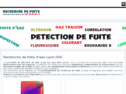 Recherche fuites d'eau Lyon