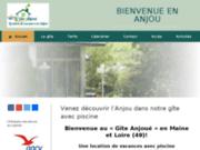 Le Gite Anjoué, location vacances pour 4 personnes, en Anjou Val de Loire, avec piscine