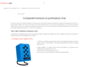 Comparateur des ioniseurs et des purificateurs