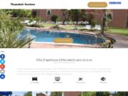 Location villa vacances à Marrakech avec piscine sans vis-à-vis