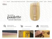 Monsieur et Madame Paulette lampes design en bois