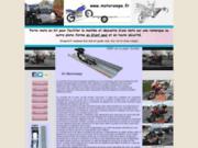Porte-moto pour remorque en kit