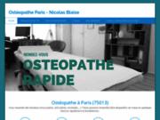 Nicolas BLAISE ostéopathe à Paris 13 Olympiades