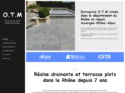 Terrasses sur plots : OTM à Villié-Morgon dans le Rhône