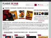 Acheter une plaque publicitaire : Plaque de pub