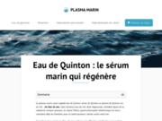 Le plasma marin : en savoir plus