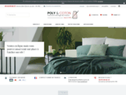 Poly et coton, linge de lit et linge de table de qualité