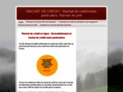 Le regroupent de prêt sur www.rachat-credit-entre-particulier.com