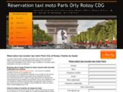 Réservation taxi moto Paris