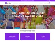 Commercialisation de sacs en osier en ligne