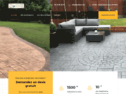 SOTIBAT, aménagement de terrasses et allées en béton décoratif
