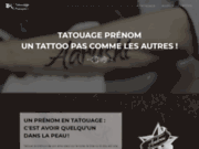 Modèle de tattoo pour un prénom