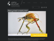 Art récup et recyclage artistique de matériaux en sculptures SF et Fantasy
