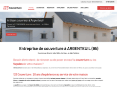 Création du site Internet de 123 Couverture (Entreprise de Couvreur à ARGENTEUIL )