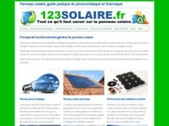 123solaire, le spécialiste de l'information sur les panneaux solaires