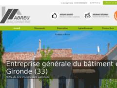 Création du site Internet de Abreu Maçonnerie (Entreprise de Maçon à BORDEAUX )
