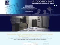 Création du site Internet de  ACCORD BAT (Entreprise de Entreprise générale à MARSEILLE )