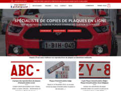 Détails : Reproduction de plaques d'immatriculation belges
