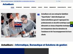 Site Détails : Actuelburo – Leader régional des solutions informatiques, bureautiques et logicielles.