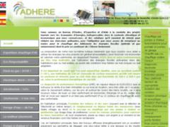 Création du site Internet de ADHERE (Entreprise de Bureau d'études à GUILLY )
