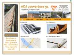 Création du site Internet de ADJ COUVERTURE 91 (Entreprise de Couvreur à DRAVEIL )