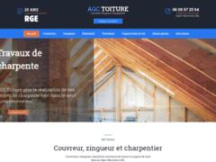 Création du site Internet de AGC Toiture (Entreprise de Couvreur à CHATEAUNEUF - GRASSE )