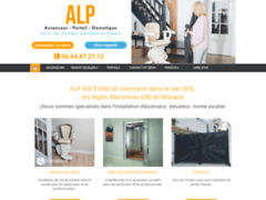 Création du site Internet de ALP - Ascenseur, Portail et Domotique (Entreprise de Entreprise de clôture à FREJUS )