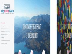 Création du site Internet de AlpCréaWeb (Entreprise de Graphiste à GAP )