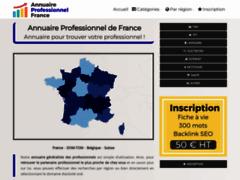 Détails : Annuaire généraliste des professionnels de la France