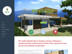 Création du site Internet de APS  (Entreprise de Entreprise générale à LE VESINET )