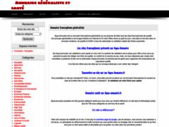 annuaire généraliste à validation automatique.