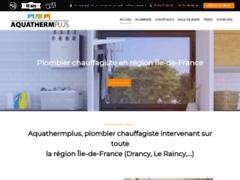 Création du site Internet de  AQUATHERMPLUS (Entreprise de Plombier à DRANCY )