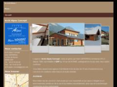 Création du site Internet de Archi Alpes Concept (Entreprise de Architecte à GAP )