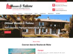 Création du site Internet de Masson Stéphane et Rudy Fallone (Entreprise de Couvreur à PUYRICARD )