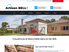 Création du site Internet de Artisan BELLY (Entreprise de Couvreur à SIX FOURS LES PLAGES )