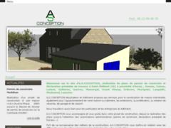 Création du site Internet de A.S CONCEPTION (Entreprise de Bureau d'études à SAINT-PHILIBERT )
