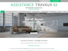 Création du site Internet de ASSISTANCE TRAVAUX (Entreprise de Courtier en travaux à CHATEL GUYON )