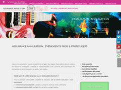 Assurances annulation événement