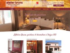 Création du site Internet de Atelier Bruno Peinture (Entreprise de Peintre à FREJUS  )
