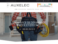 Création du site Internet de AUXELEC 89 (Entreprise de Electricien à ACCCOLAY )